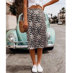 VICI Leopard print Midi skirt